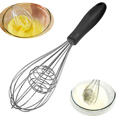 NEW Stainless Steel Wired Whisk Kitchen Batter Mixer Egg Beater Cake Baking Tool