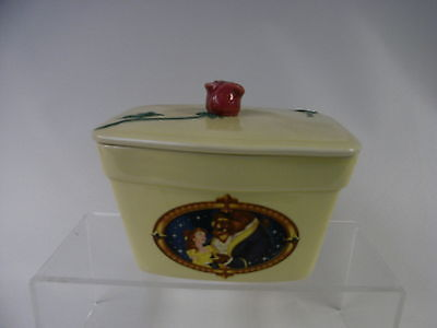 Walt Disney Classics Beauty and the Beast Special Edition Porcelain Clover Dish