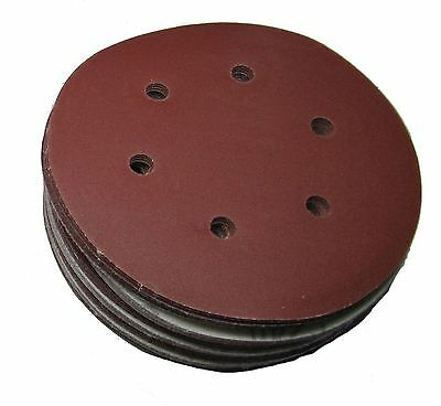 "Rdg 6"" 150Mm Hook And Loop Sanding Discs Sandpaper 6 Hole Pad Palm Sander"