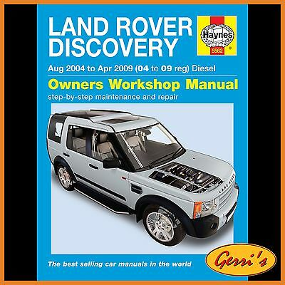 5562 Haynes Land Rover Discovery Diesel (Aug 2004 - Apr 2009) Service Manual