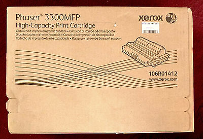 XEROX 106R01412 PHASER 3300MFP High Capacity PRINT CARTRIDGE GENUINE NEW SEALED