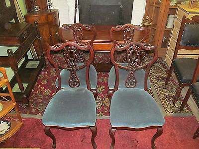 Good Quality Set Of Four Victorian Salon Chairs