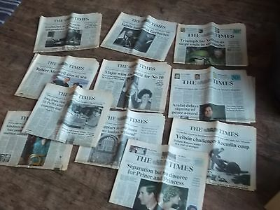 x11 vintage editions of the Times early 90s