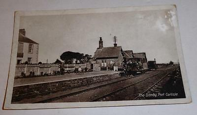 Old Postcard The Dandy Port Carlisle Railway Station 1913 Cumbria Real Photo