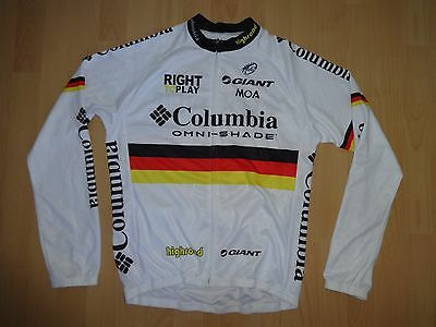 Team COLUMBIA Omni-shade Highroad cycling jersey size LARGE L/S Long sleeve