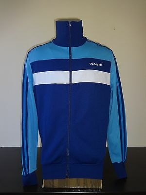 """vintage Adidas 1970s 1980s track top size D4 UK 5'6"""""""