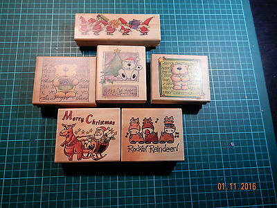 Christmas Stamps   By   * Stamp It *         6 In Total  Used