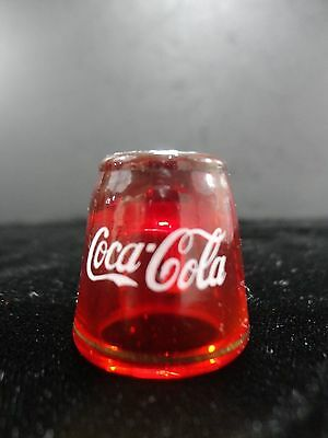 Vintage Coca-Cola Ruby Red Sewing Thimble