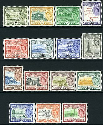 ST KITTS-NEVIS & ANGUILLA-1954-63 Set to $4.80 Sg 106a-118 UNMOUNTED MINT V13209