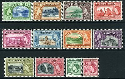 TRINIDAD & TOBAGO-1953-57 Set to $4.80 Sg 267-278a UNMOUNTED MINT V13151