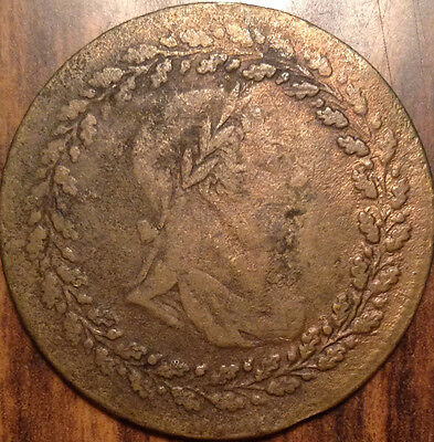 1812 Lower Canada Tiffin Half Penny Token Cc Strong Brass Color
