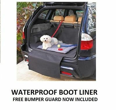 Heavy Duty Pet Cat Dog Waterproof Car Boot Trunk Protector Liner + Bumper Cover