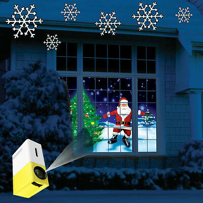Christmas Light Santa Decoration Special Effect Video VFX Projector Projection