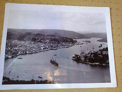 LARGE OLD PHOTOGRAPH/PHOTO Dartmouth, General view, England SUPERB