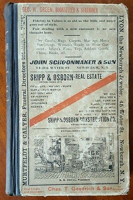 1913 NEWBURGH, NY Directory with Excellent MAP * Graphic ADS*  Beer Dairy Autos