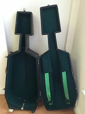Vintage Modernist Cubist wooden cello case  100 + years old