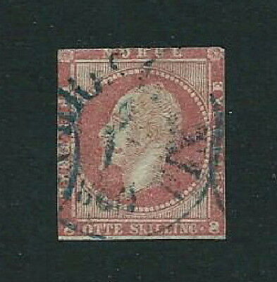 NORWAY 1856 SG11 King Oscar I 8s red Good Used CV £23