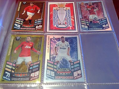 Topps Match Attax 2012/13 binder + Lots Of Cards Limited Edition + RARE