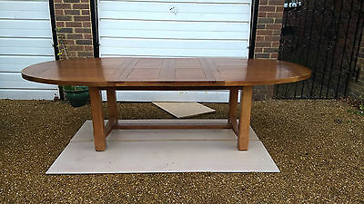 Wesley Barrell Solid French Oak dining table. Extends from 190-270cm. Seats 10.