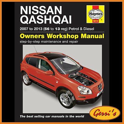 5610 Haynes Nissan Qashqai (2007 to 2012) 56 to 62 Service Manual