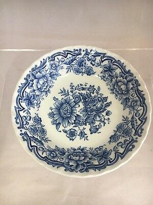 """Ridgway Ironstone """"clifton"""" Pattern Blue & White Floral Small Bowl"""