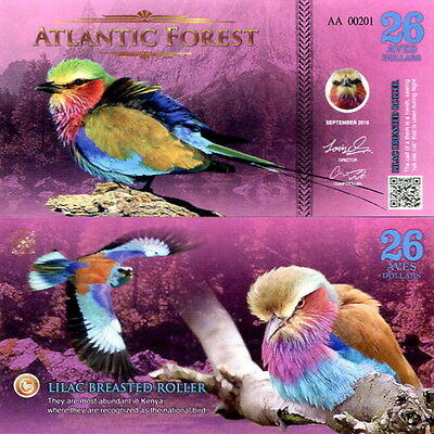 ATLANTIC FOREST - 26 aves dollars 2016 FDS UNC