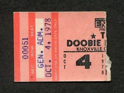1978 Doobie Brothers Concert Ticket Stub Knoxville Michael McDonald Minute by