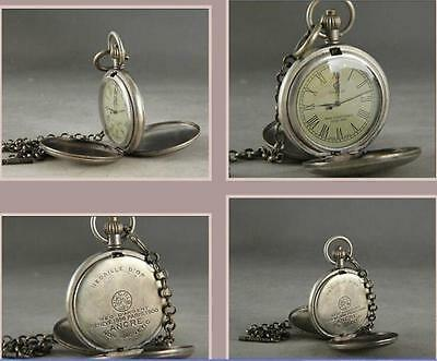 ancient copper manual mechanical watch the clock