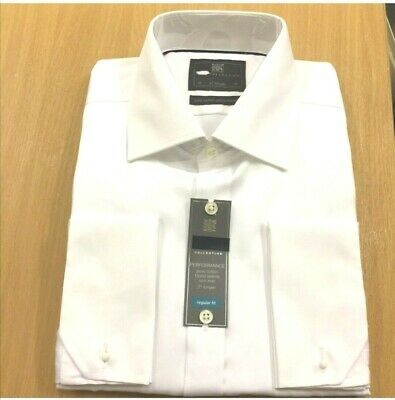 M&S PERFORMANCE PURE COTTON Mens   Non Iron FRECH & BUTTON CUFF SHIRTS