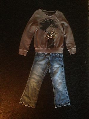 Girls NEXT Jumper And Jeans Age 7/8
