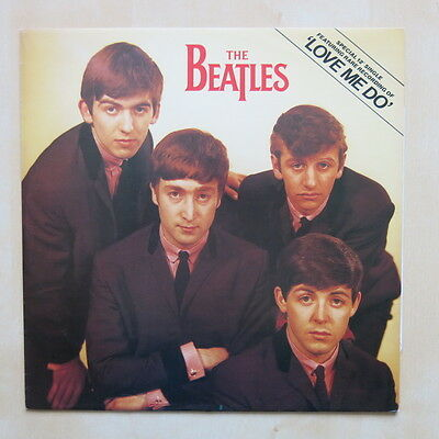 """THE BEATLES Love Me Do UK 12"""" single in picture sleeve Parlophone red label 1982"""