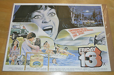 Friday the 13th 1980 Original Vintage Horror Quad Cinema Poster