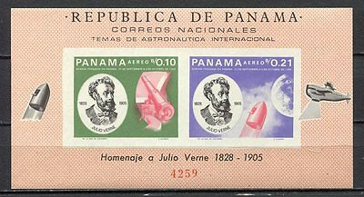 37351) PANAMA 1966 MNH** J. Verne SPACE S/S  Scott#474Df Imperf.