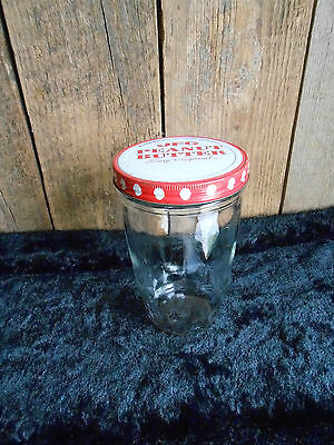 Vintage Collectible JFG Peanut Butter Jar w/ Metal Lid 'Easy to Spread' DOTS