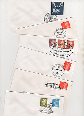 Military - 1995 Special Postmarks On 6 Covers