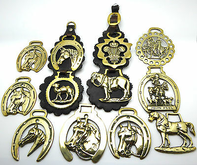 Job Lot of 12 Vintage Horse Brasses - Very Collectable