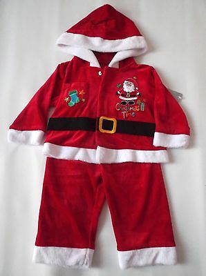 Boys/Girls Santa Father Christmas Suit Outfit 6-9 mths Fancy Dress Costume Xmas