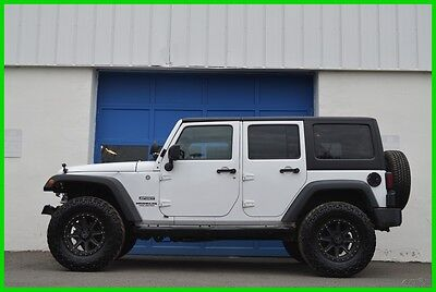 2012 Jeep Wrangler Sport Unlimited Hard Top 4X4 4WD LIfted Automatic Repairable Rebuildable Salvage Lot Drives Great Project Builder Fixer Easy Fix