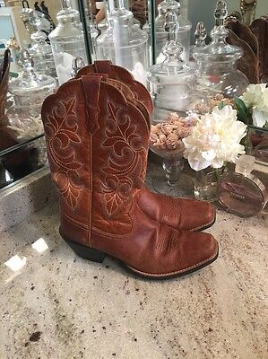 Nice Ariat Women's 10011893 Round Up Cowboy Boot (Tan) Size 9 Brown Square Toe