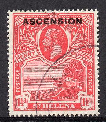 Ascension 1 1/2d Stamp c1922 Used SG3