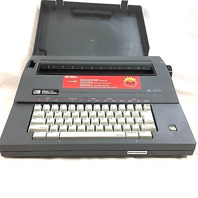 Smith Corona SL 470 Electric Typewriter with Hardcase Working Portable Vintage
