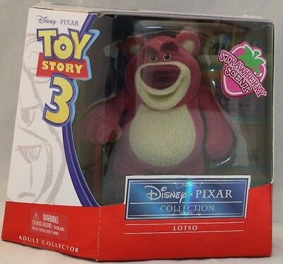 Disney Pixar Collection Toy Story 3 Lotso Strawberry Scented Flocked Figure RARE