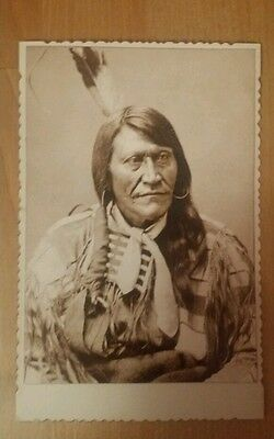 Native American Antique Looking Cabinet Card Photograph Print