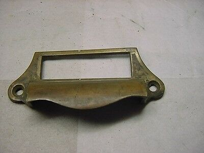 1 Antique Cast Brass Victorian Drawer Pull Window Apothecary Cabinet