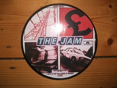 The Jam That's Entertainment Display 'picture Disc'