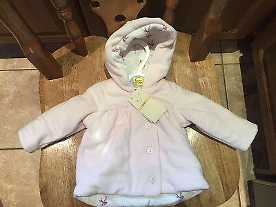 BNWT M & S Baby Newborn Pink Winter Coat Jacket Size-Up to 1  Month