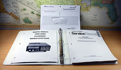 MODIFICATIONS DOCUMENT + OPERATING + SERVICE MANUAL for RADIO SHACK PRO-2006
