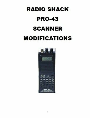 MODIFICATIONS DOCUMENT OPERATING + SERVICE MANUAL for RADIO SHACK PRO-43 SCANNER
