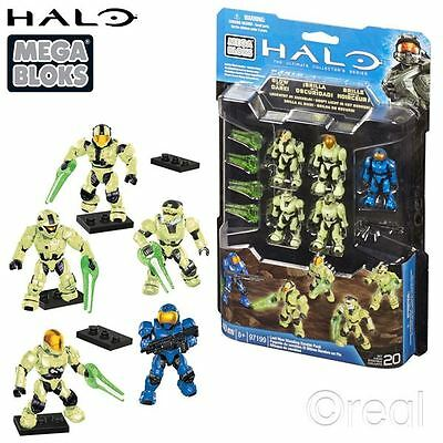 New Halo Last Man Standing Zombie Action Figure Pack Glow Mega Bloks Official