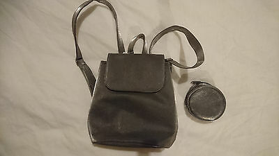 new girls small  back pack bag with little purse